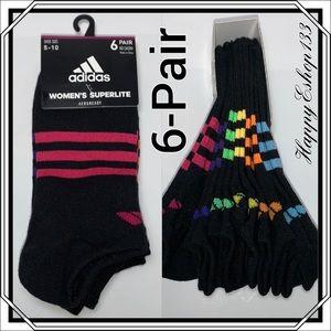 adidas No Show Aeroready Superlite Sock, 6-Pair